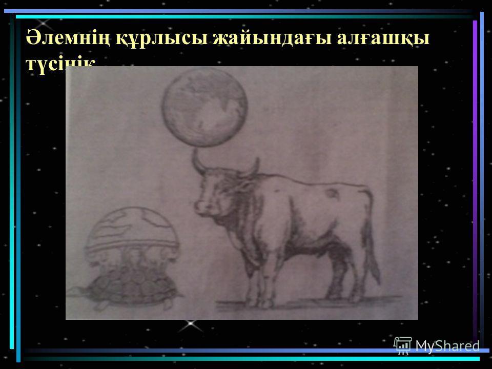 Әлемнің құрлысы жайындағы алғашқы түсінік