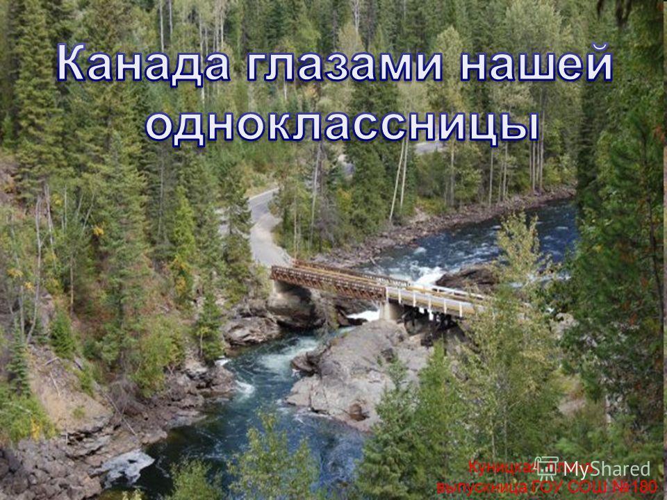 Куницкая Алина, выпускница ГОУ СОШ 180
