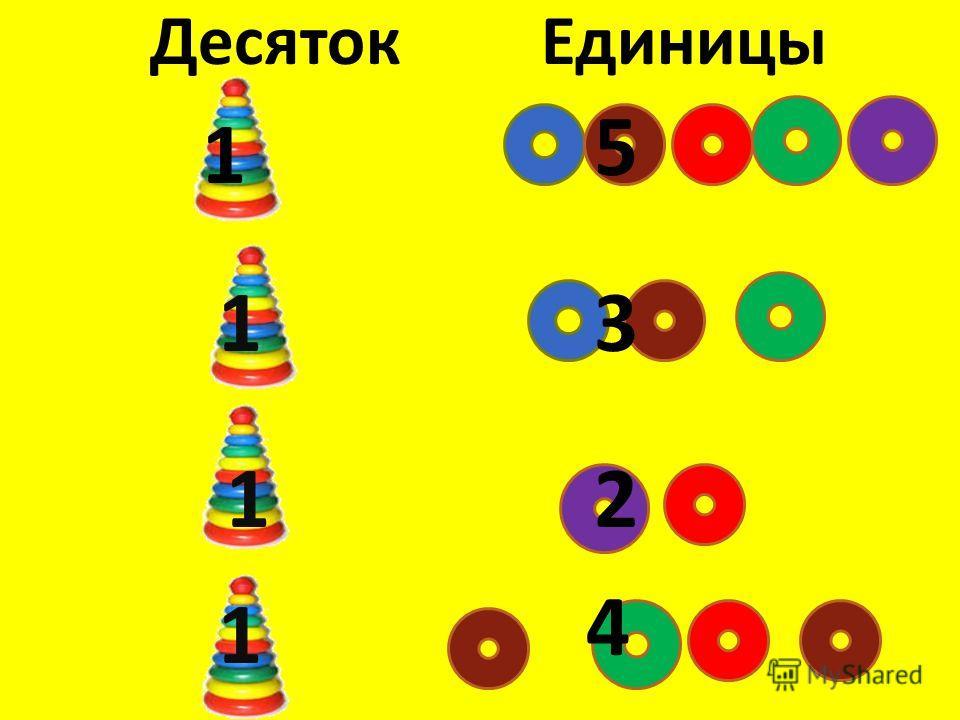 Десяток Единицы 1 5 1 1 1 3 2 4