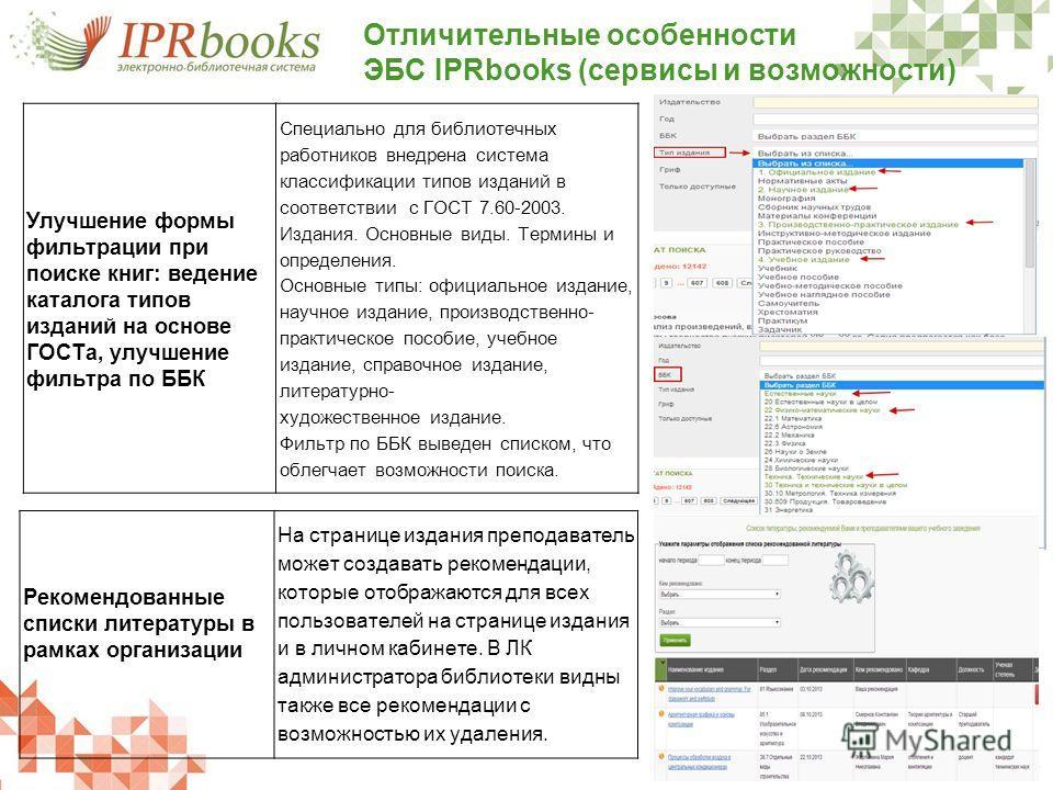 Рекомендованные списки литературы в рамках организации На странице издания преподаватель может создавать рекомендации, которые отображаются для всех пользователей на странице издания и в личном кабинете. В ЛК администратора библиотеки видны также все