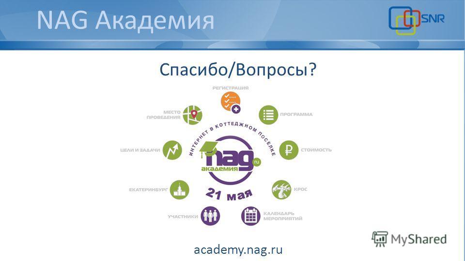 NAG Академия Спасибо/Вопросы? academy.nag.ru