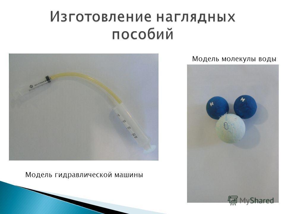 Модель гидравлической машины Модель молекулы воды