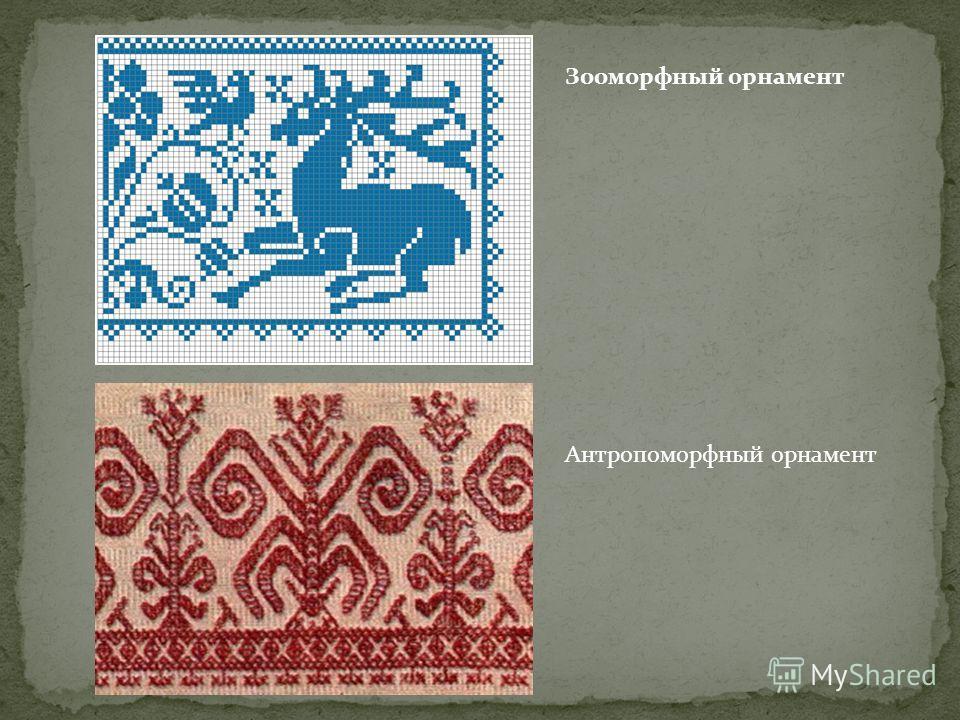 Зооморфный орнамент Антропоморфный орнамент