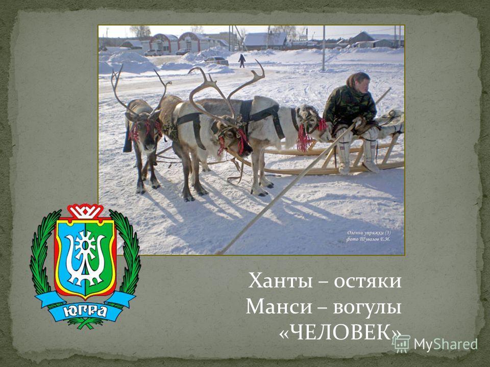 Ханты – остяки Манси – вогулы «ЧЕЛОВЕК»