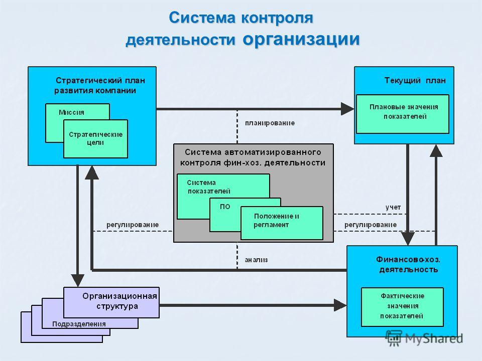 Система контроля деятельности организации