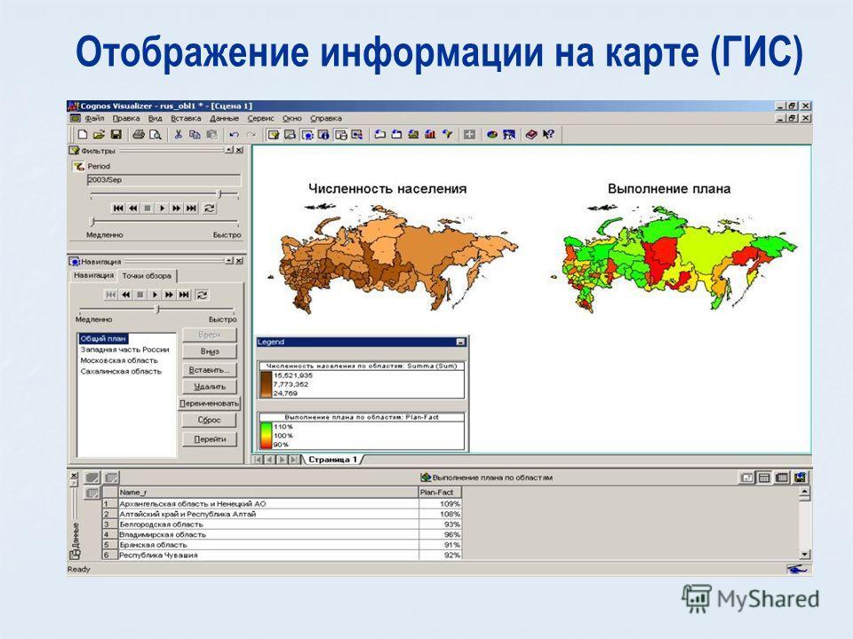Отображение информации на карте (ГИС)