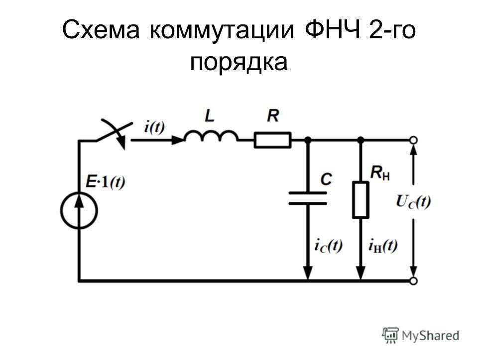 Схема коммутации ФНЧ 2-го порядка