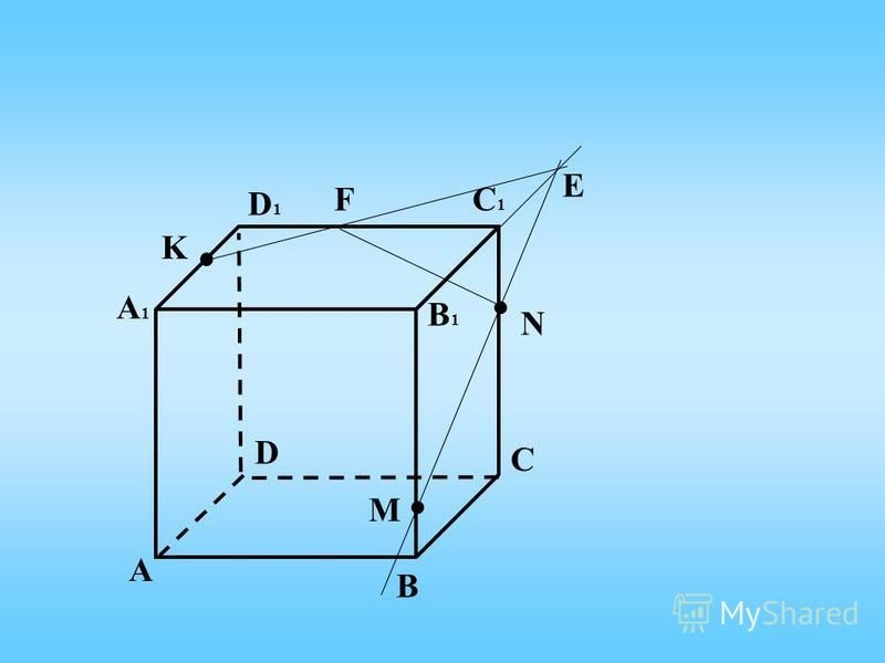 А C B D А1А1 D1D1 C1C1 B1B1 K N M Е F
