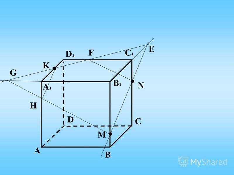 А C B D А1А1 D1D1 C1C1 B1B1 K N M Е F G H