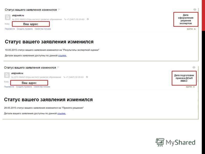 Дата оформления решения экспертов Ваш адрес Дата подготовки приказа ДОиН ХМАО