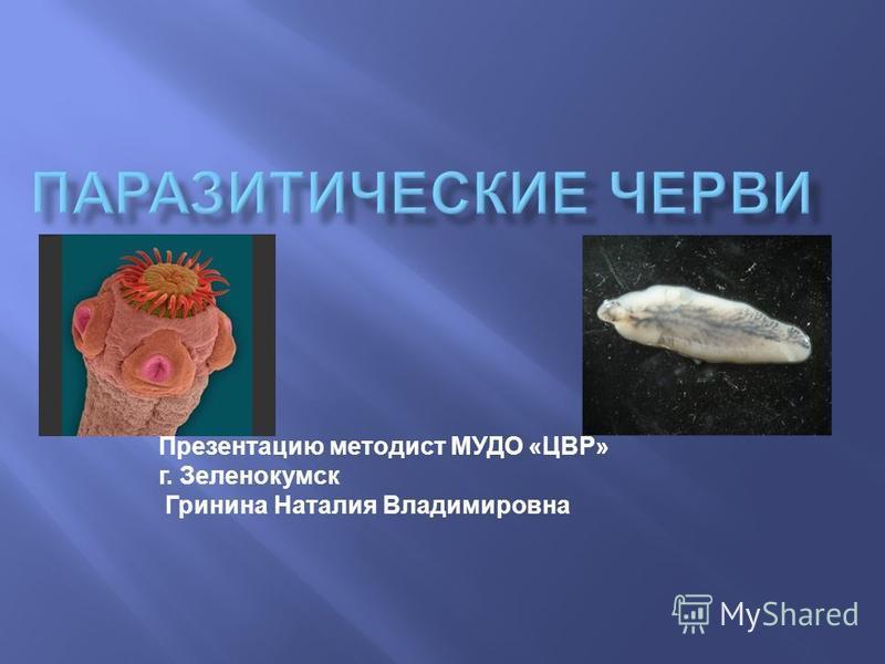 Презентацию методист МУДО «ЦВР» г. Зеленокумск Гринина Наталия Владимировна