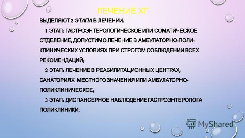 ЛЕЧЕНИЕ ХГ