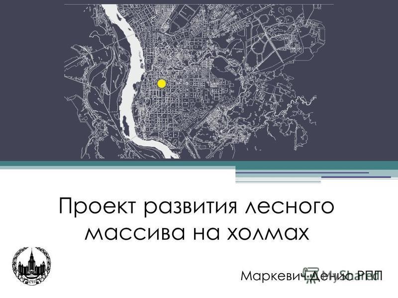 Проект развития лесного массива на холмах Маркевич Денис РПП