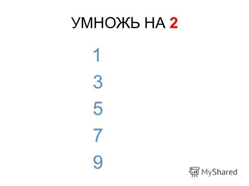 ПРОВЕРЬ! 2 · 2 = 4 4 · 2 = 8 6 · 2 = 12 8 · 2 = 16 10 · 2 = 20