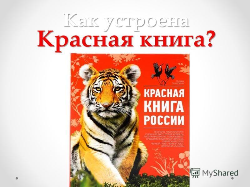 Как устроена Красная книга?