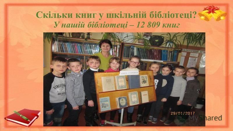 Скільки книг у шкільній бібліотеці? У нашій бібліотеці – 12 809 книг