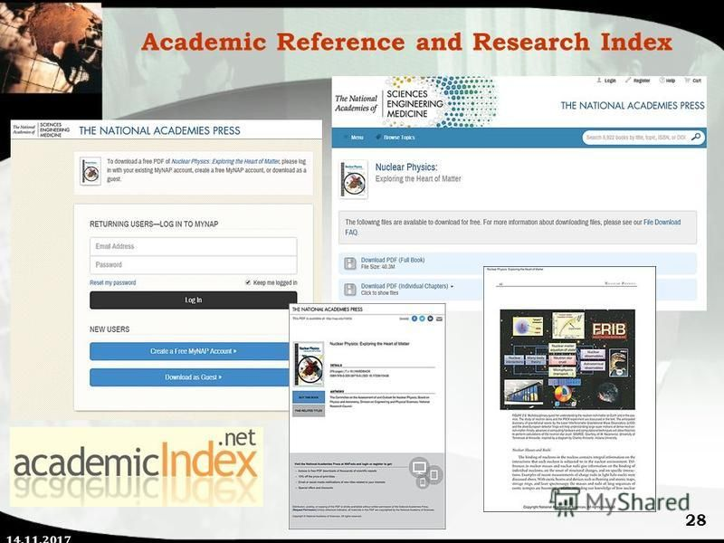 14.11.2017 28 Academic Reference and Research Index