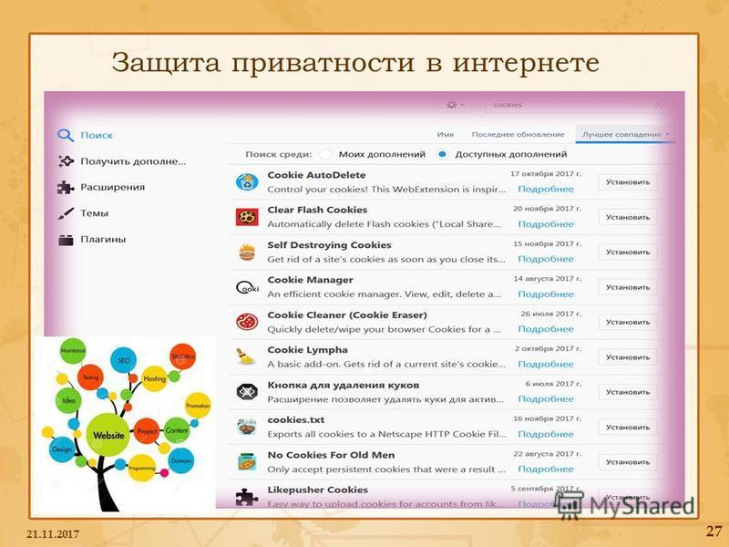 Защита приватности в интернете 21.11.2017 27