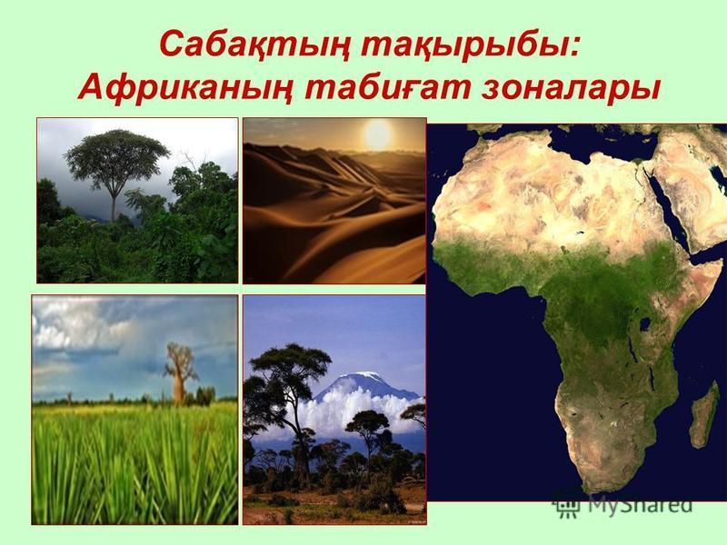 Сабақтың тақырыбы: Aфриканың табиғат зоналары