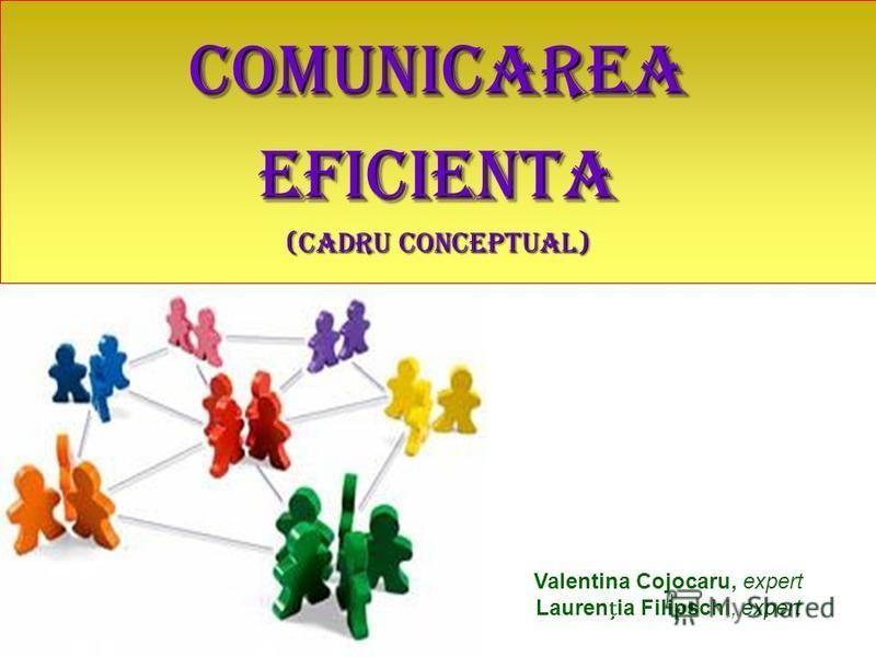 Valentina Cojocaru, expert Laurenia Filipschi, expert COMUNICAREAEFICIENTA (cadru conceptual)