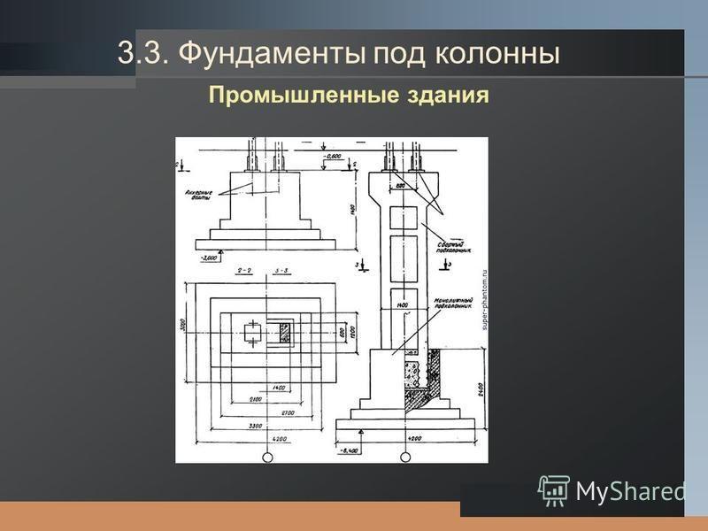 LOGO 3.3. Фундаменты под колонны Промышленные здания
