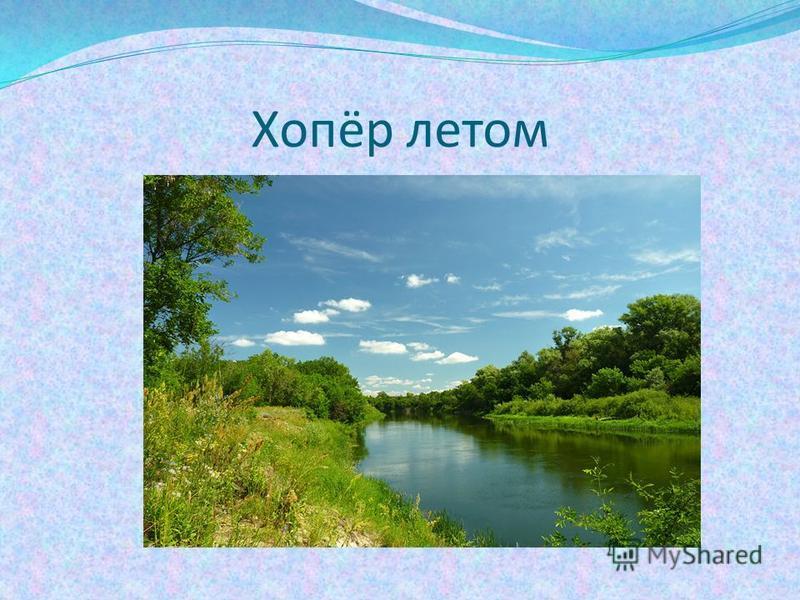 Хопёр летом