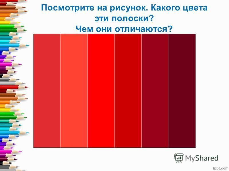 Посмотрите на рисунок. Какого цвета эти полоски? Чем они отличаются?