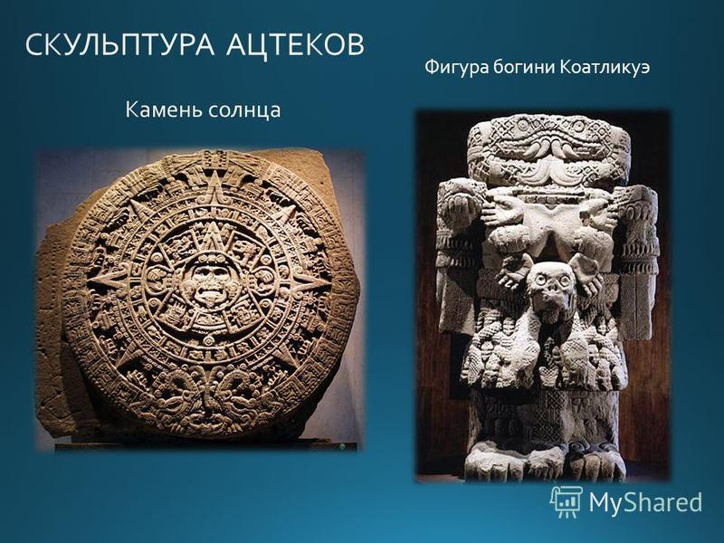 Камень солнца Фигура богини Коатликуэ