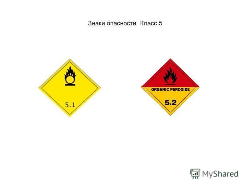 Знаки опасности. Класс 5
