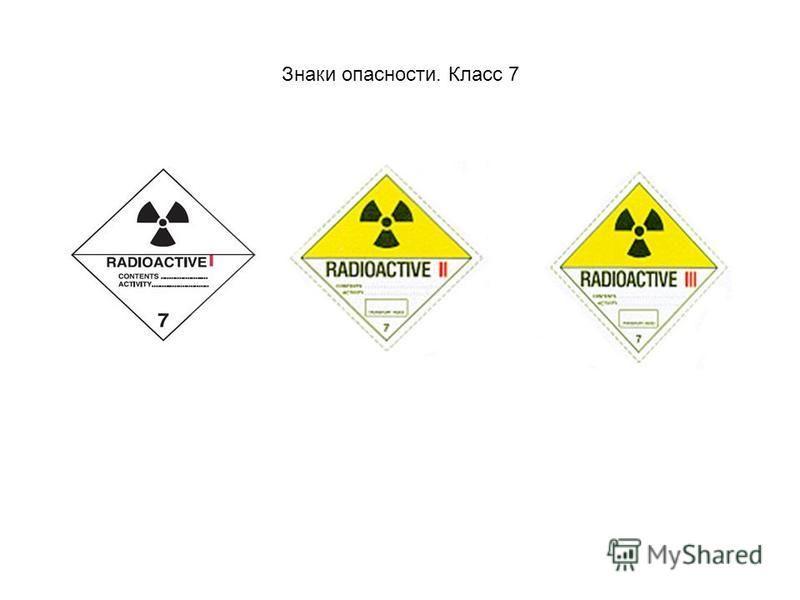 Знаки опасности. Класс 7