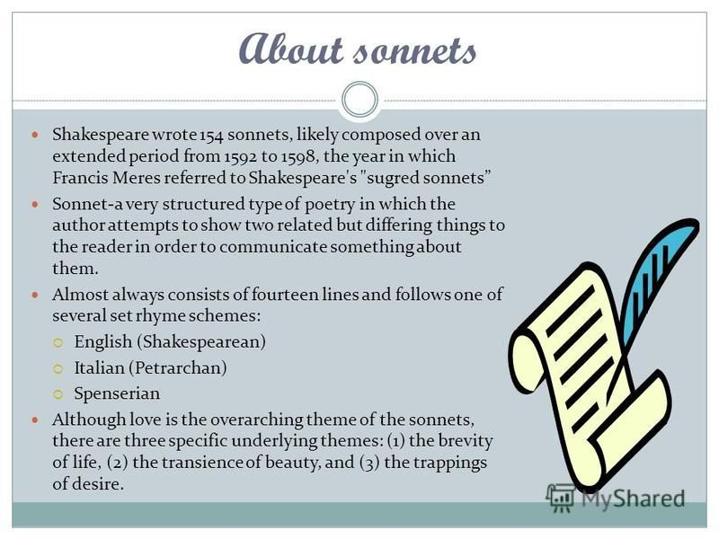 an analysis of the main themes in sonnet 29 The theme of sonnet 75 by edmund spenser is that no one the main theme of william shakespeare's sonnet 73 is how a person is analysis spenser edmund sonnet 75.