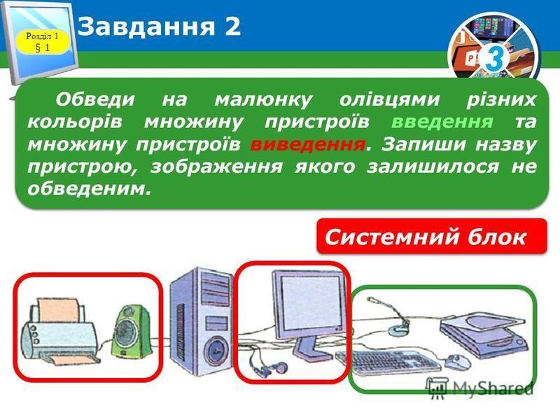 3 Завдання 1 Розділ 1 § 1 Розглянь малюнок. Запиши назви пристроїв, за допомогою яких діти працюють з повідомленнями. Фотокамера Телефон Комп'ютер Диктофон Флеш-пам'ять