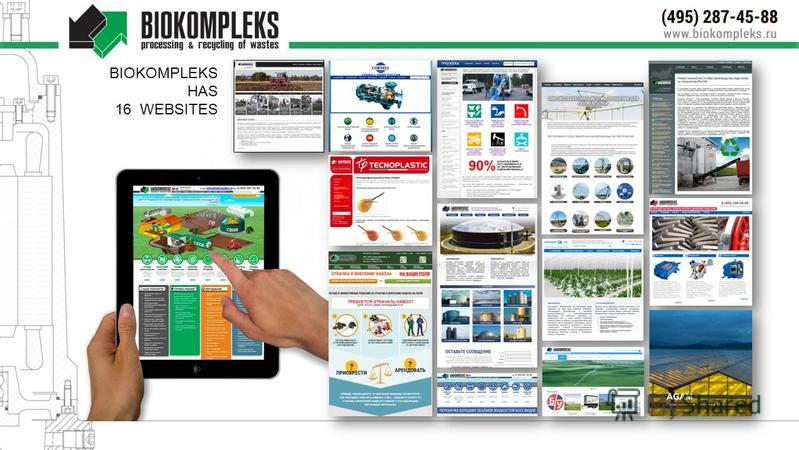 BIOKOMPLEKS HAS 16 WEBSITES