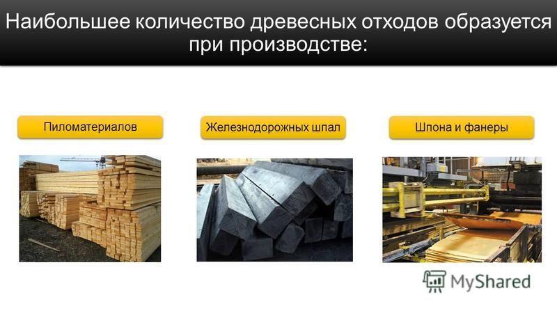 Наибольшее количество древесных отходов образуется при производстве: Пиломатериалов Железнодорожных шпал Шпона и фанеры