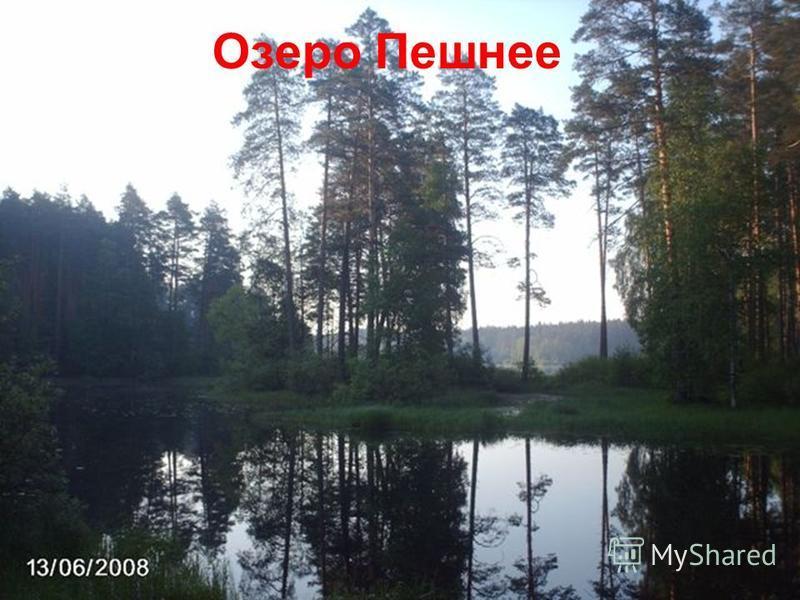 Озеро Пешнее