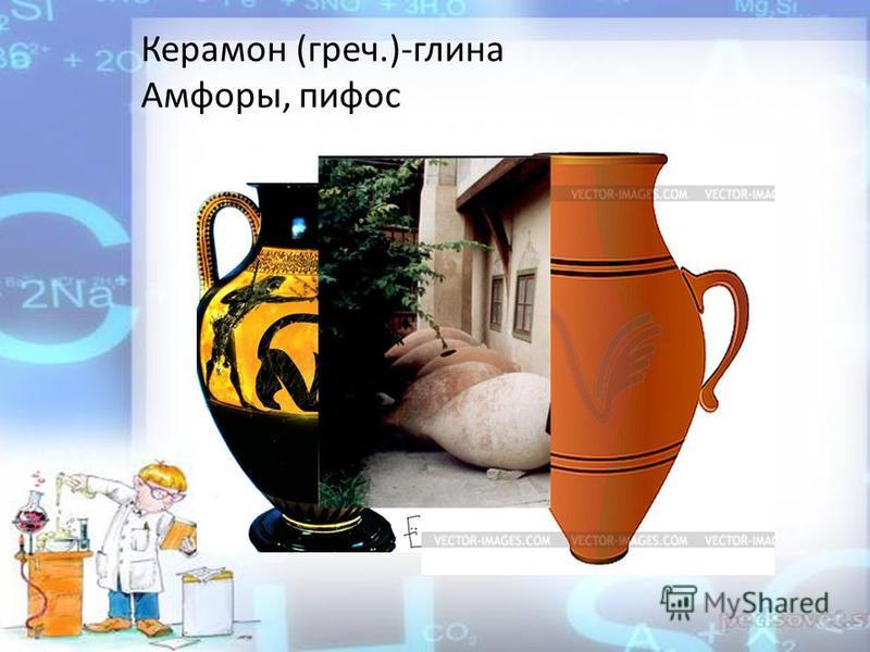 Керамон (греч.)-глина Амфоры, пифос