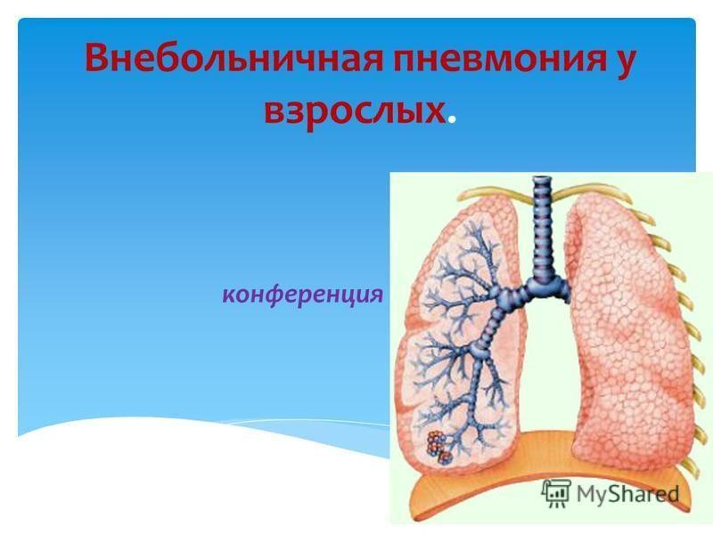 Внебольничная пневмония у взрослых. конференция