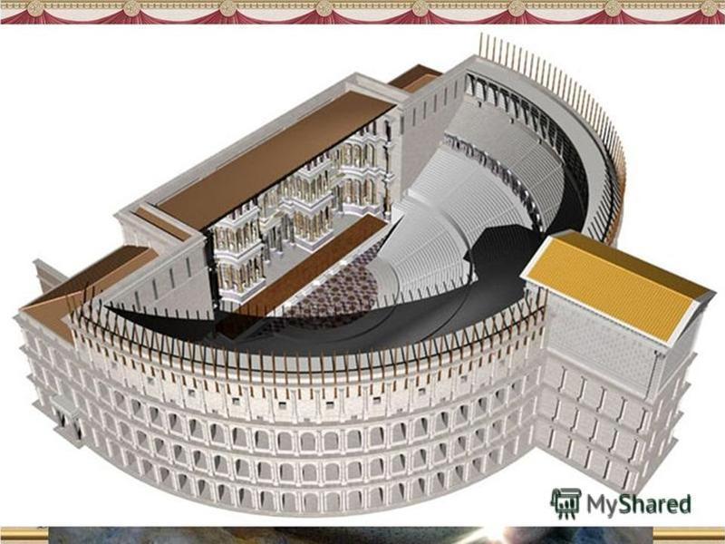 Театралнтите представления Театърът по онова време е бил не развлечение, а свещенодействие – почитане на бог Дионис. Държавата плащала на зрителите надниците им за 4 дни, за да могат спокойно да седят в театъра и да гледат представленията. Да средата