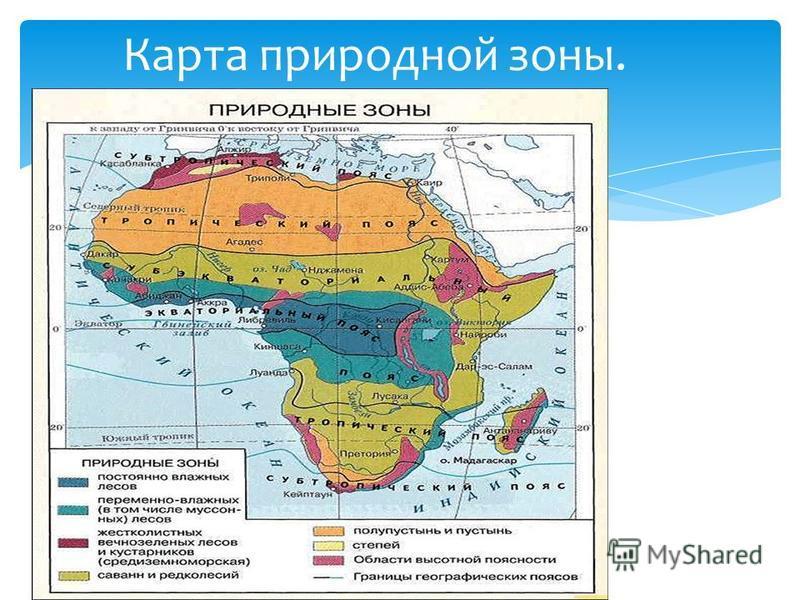 Карта природной зоны.