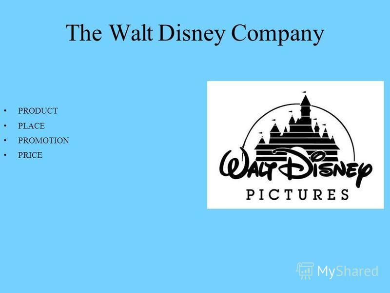 The Walt Disney Company PRODUCT PLACE PROMOTION PRICE
