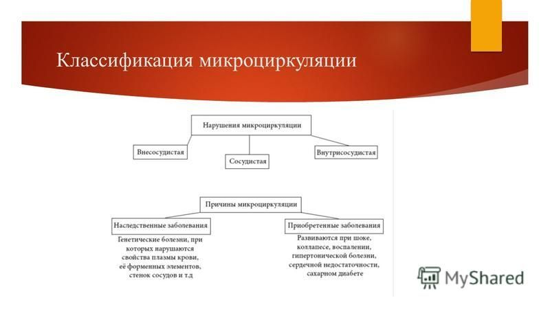 Классификация микроциркуляции