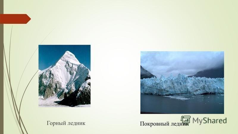 Горный ледник Покровный ледник