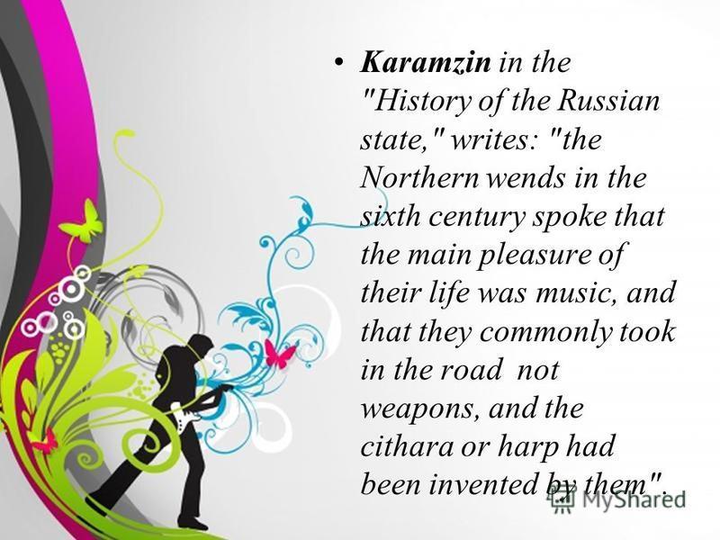 Free Powerpoint TemplatesPage 3 Karamzin in the