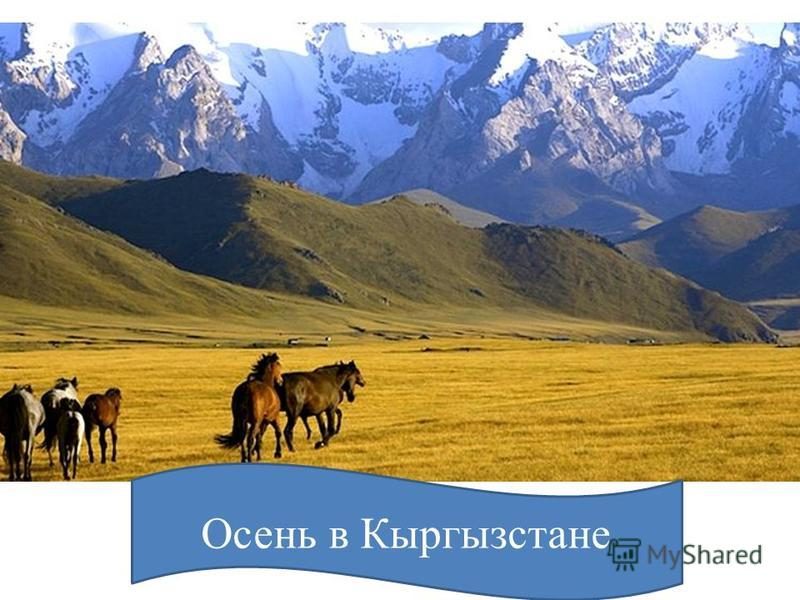 Осень в Кыргызстане