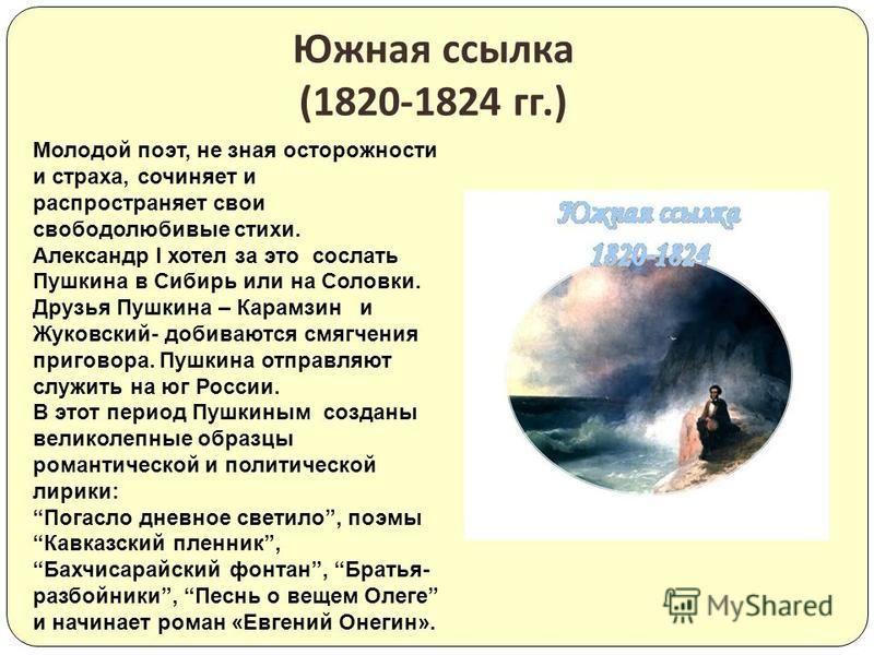 Ещё в лицее в 1814 году стало известно имя А. Пушкина после опубликования в журнале « Вестник Европы » его стихотворения « К другу стихотворцу ». В 1820 году в печати появилась поэма « Руслан и Людмила », которая принесла славу поэту. Известность и с