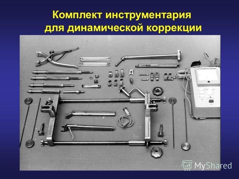 Комплект инструментария для динамической коррекции