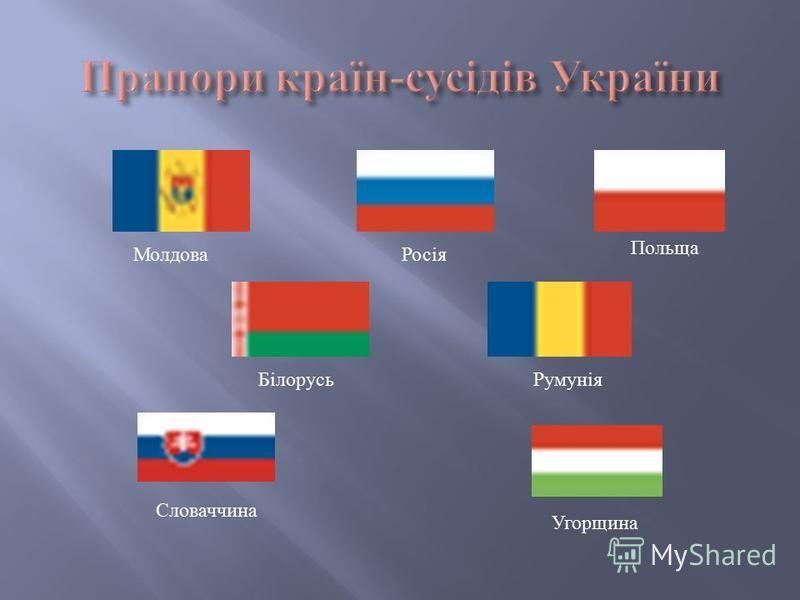 Молдова Польща Росія Румунія Словаччина Білорусь Угорщина