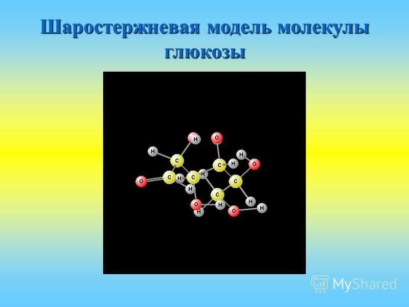 Шаростержневая модель молекулы глюкозы
