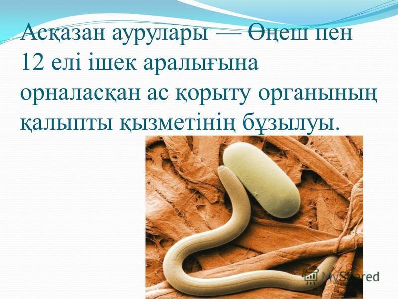 Асқазан аурулары Өңеш пен 12 елі ішек аралығына орналасқан ас қопыту органның қалыпты қызмнетінің бұзилуы.
