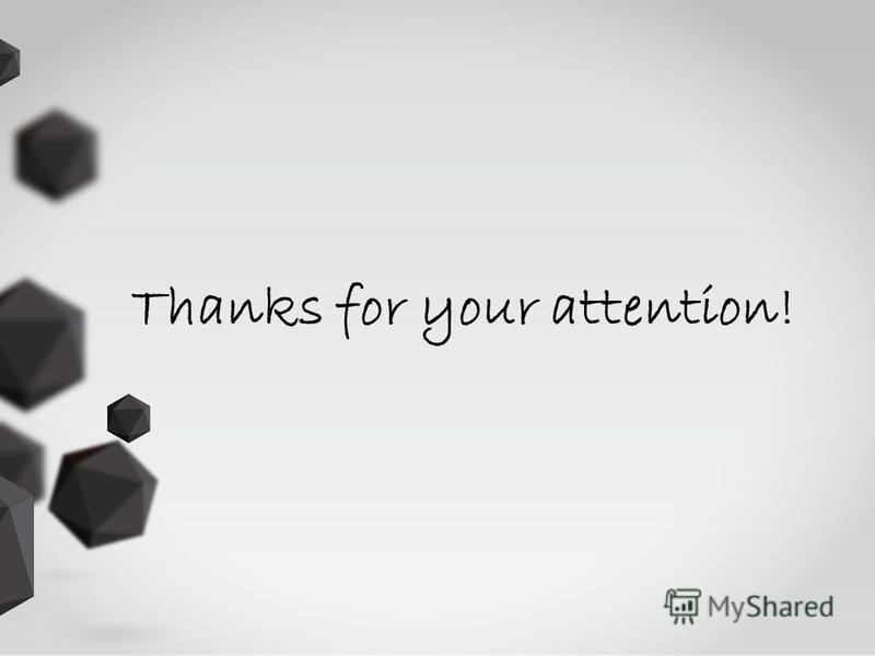 Thanks for your attention!